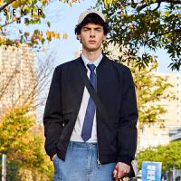 【4.5折价:126元】森马夹克男春装2020新款正反两穿休闲外套潮牌上衣男装撞色立领