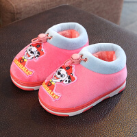 儿童棉鞋女冬季加绒包跟女宝宝1-3岁小童防滑家居棉拖鞋