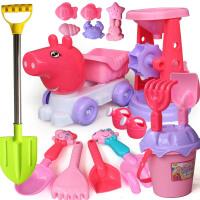 玩具铲子 儿童宝宝沙滩玩具车决明子男女孩宝宝玩沙子挖沙铲子漏桶工具套装