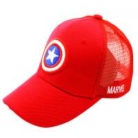 儿童棒球帽男春夏四季运动出游遮阳圆顶大檐鸭舌布帽网帽