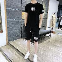 短袖t恤男士套装夏季潮牌短袖2019新款潮流男装一套搭配体恤夏装115