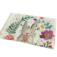 可爱卡通儿童地毯进门垫卧室床边地垫卫生间卫浴室厨房脚垫子定制