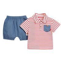 宝宝夏季套装婴儿短袖夏装男幼儿衣服两件套