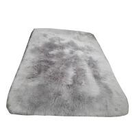 加厚长毛绒地毯卧室客厅床边满铺地毯飘窗垫现代简约毛绒橱窗定做2018定制 浅灰色 长毛绒(直角)