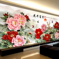 钻石画满钻客厅2018新款十字绣花开富贵牡丹大幅现代中式5D砖石秀