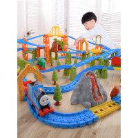 越诚托马斯小火车套装电动轨道男孩子赛车玩具多层3-8岁儿童礼物