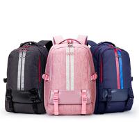 卡拉羊休闲双肩包大容量初高中生书包旅行包轻便背包校园风双肩包CX5985