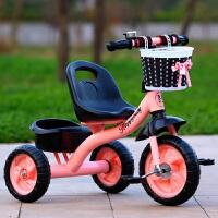 儿童三轮车脚踏车1-3-5周岁2-6岁大号轻便宝宝手推车自行车带斗篮