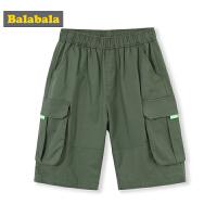 巴拉巴拉儿童短裤新款夏装男童裤子中大童港味短裤工装五分裤