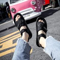 原宿港风凉鞋女夏天学生平底新款韩版时尚软底滑沙滩鞋