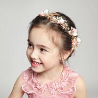 儿童发饰女孩头饰公主发箍花朵头花生日配饰粉色