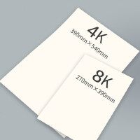 Touch mark 4K8K素描纸160g四开速写纸美术生专用联考考试画画纸加厚200g八开水彩纸彩铅绘画纸正品袋装白