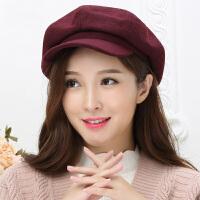 帽子女冬天秋冬韩版潮英伦贝雷帽羊毛呢八角帽画家帽时尚鸭舌帽
