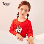 【8.10号品秒价:28元】迪士尼宝宝幻想即兴曲女童针织可爱长袖T恤秋季新款