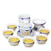 玲珑茶具套装蜂窝镂空陶瓷整套功夫茶具茶壶茶杯盖碗茶洗