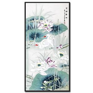 中国美术家协会会员、中国工笔画协会会员 赵上慧《荷塘雅趣》