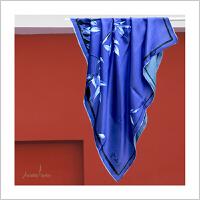 蒙马特大街艺术衍生品定制真丝桑蚕丝丝巾围巾艺术家合作限量款