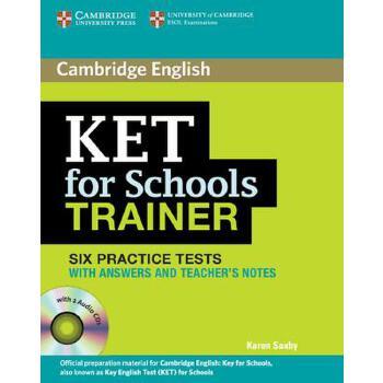 【预订】Ket for Schools Trainer Six Practice Tests with Answers, Teacher's Notes and Audio CDs (2) 预订商品,需要1-3个月发货,非质量问题不接受退换货。