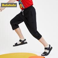 【3件4折价:59.96】巴拉巴拉男童七分裤中大童夏装新款童装时尚休闲短裤儿童裤子