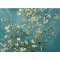 1000片木质拼图定制500名画油画装饰画 梵高杏花