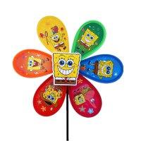大风车 户外活动双层布艺七彩向日葵 儿童卡通玩具