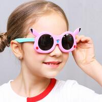 宝宝太阳镜偏光硅胶舒适不伤眼睛男童女童小孩墨镜2019新款