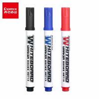 齐心白板笔黑色水性可擦红蓝白板笔儿童画板笔办公用品白板专用笔易檫大容量粗头会议写字黑色笔WB713