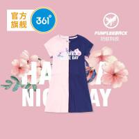 【下单立减】361度童装 女童针织连衣裙2019夏季新品短袖连衣裙