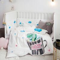 秋冬婴儿全棉床品套件幼儿园床上用品三件套儿童加厚磨毛婴童床围定制