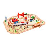 小火车轨道套装木质制儿童玩具男孩3-4-5--7岁礼物
