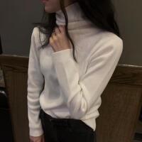 新年特惠韩国风基础款秋冬修身毛衣保暖打底衫针织衫高腰套头长袖女装上衣 均码 针织衫