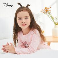 迪士尼童装儿童上衣长裤家居服两件套春秋宝宝女童米妮内衣套装