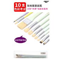 马利天云水粉笔10支套装学生用大中小扇形学生色彩美术专业儿童初学者平头笔刷水粉画笔全套