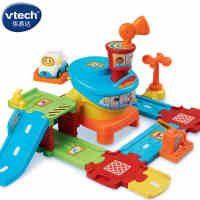 伟易达Vtech神奇轨道车飞机场亲子仿真宝宝婴儿益智玩具儿童1-5岁
