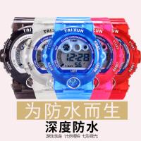 新款透明果冻表儿童电子表夜光防水闹铃女童可爱男孩小孩手表