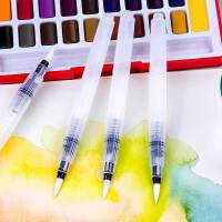 德国辉柏嘉自来水笔套装学生用手绘固体水彩颜料画笔初学者水溶彩铅水彩画笔吸水储水毛笔软笔书法笔水写笔