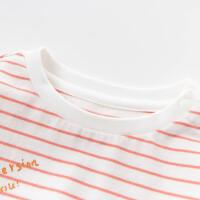 davebella戴维贝拉2020春季新款女童T恤宝宝卡通条纹上衣DBZ13317
