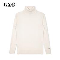 GXG男�b 冬季商�鐾�款�r尚保暖白色高�I套�^��毛衫毛衣