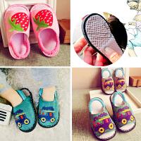手工纳底春秋夏亚麻儿童家居婴儿幼儿室内家用男女宝宝布拖鞋