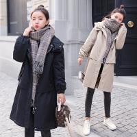 棉袄厚风衣 孕妇棉衣冬季2018新款中长款潮妈孕妇韩版宽松孕妇装