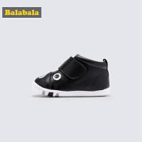 巴拉巴拉男童皮鞋 加绒鞋2019新款春秋宝宝儿童鞋子男婴儿羊皮鞋