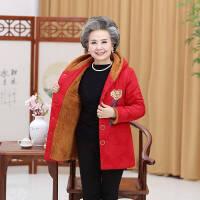 新年特惠中年妇女棉袄女中老年女装冬装厚外套大码妈妈棉衣女短款加绒 4