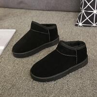 厚底短靴2018秋冬新款雪地靴女马丁靴平底棉鞋学