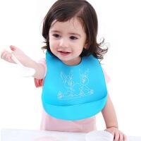 宝宝吃饭兜兜防水硅胶软婴儿防漏立体喂饭都衣围兜小孩围嘴儿童