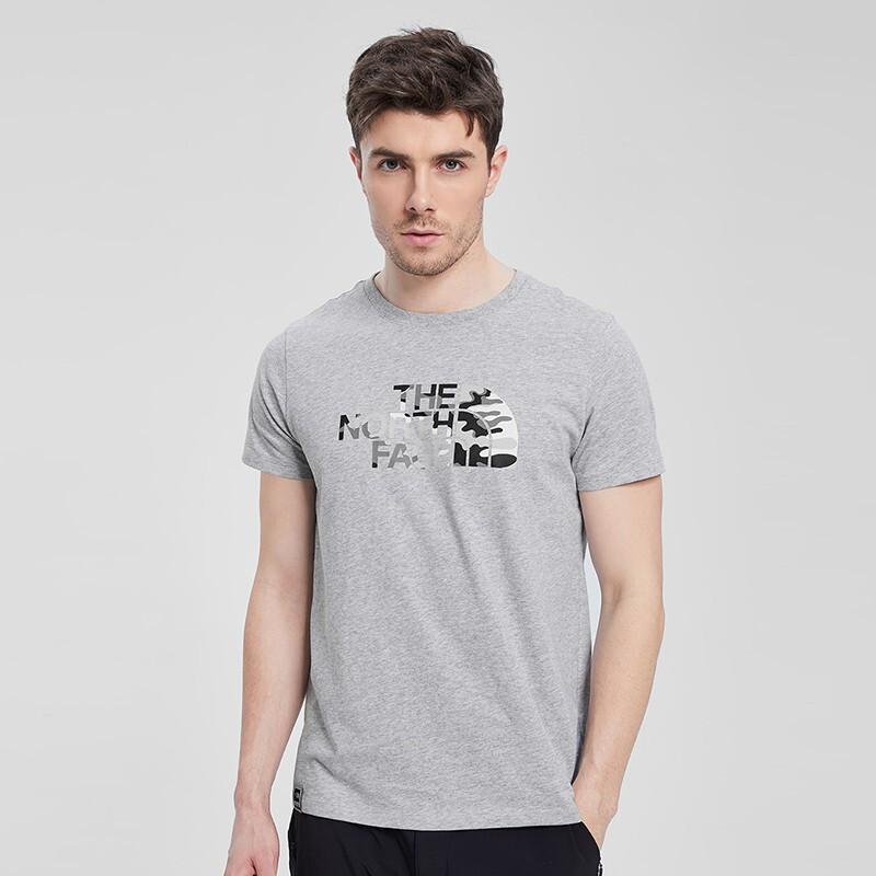 【特价】The North Face北面 2019春夏新款 男子舒适透气圆领T恤 运动休闲衫 3V4Q