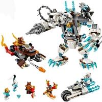 10355气功传奇赤马神兽冰熊王的机甲巨熊拼装积木玩具