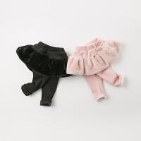 【夹棉】davebella戴维贝拉2019冬季新款男童保暖休闲长裤DB11651