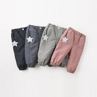 davebella戴维贝拉2019冬季新款男女童裤子宝宝加绒休闲裤DB12367