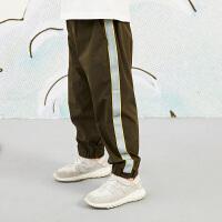 【秒杀价:119元】马拉丁童装男大童裤子春装2020年新款撞色休闲运动儿童收口裤