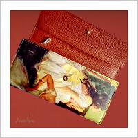 蒙马特大街艺术衍生品定制梵高油画系列复古钱包票夹礼品长款送女生
